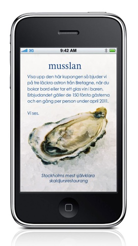Musslan-smartphone